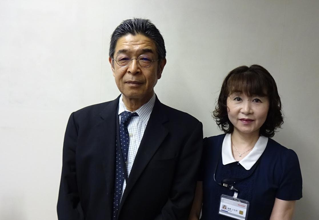 """""""シャープ、ライフケアチームの佐田さんと松本さん"""""""